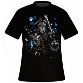 T-Shirt Mec DARK WEAR - Captain Death Glow
