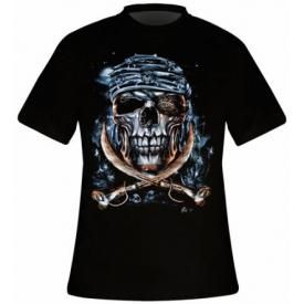 T-Shirt Mec DARK WEAR - Crossbones Swords Glow