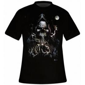 T-Shirt Mec DARK WEAR - Bone Finger Reaper Glow
