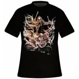 T-Shirt Mec DARK WEAR - Drums From Hell Glow
