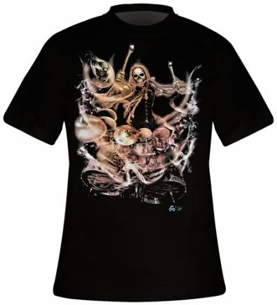 T-Shirt Homme DARK WEAR - Drums From Hell Glow - Rock A Gogo 4a068020f92