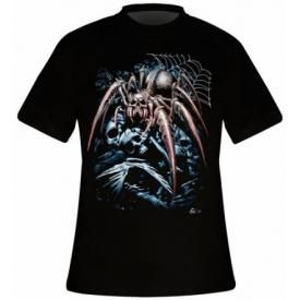 T-Shirt Mec DARK WEAR - Spider Skull Glow