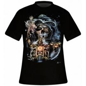 T-Shirt Mec DARK WEAR - Skull Chapter Glow