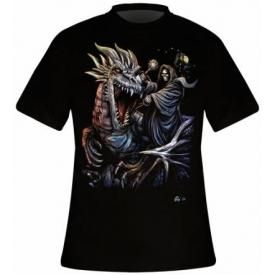 T-Shirt Mec DARK WEAR - Riding The Dragon Glow
