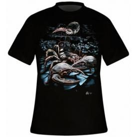 T-Shirt Mec DARK WEAR - Scorpion God Glow