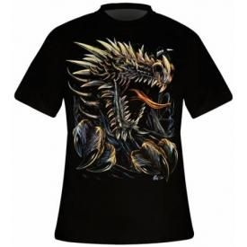 T-Shirt Mec DARK WEAR - Dragon Ripped Glow