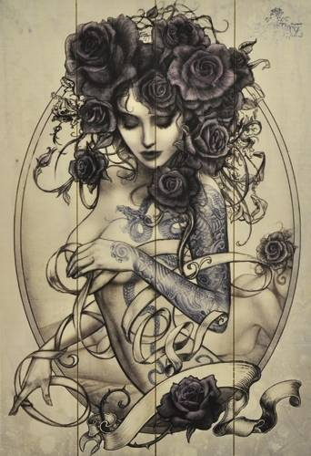 the gallery for evil tattoo sleeve drawings. Black Bedroom Furniture Sets. Home Design Ideas