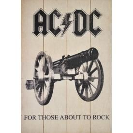 Plaque Murale AC/DC - For Those About To Rock