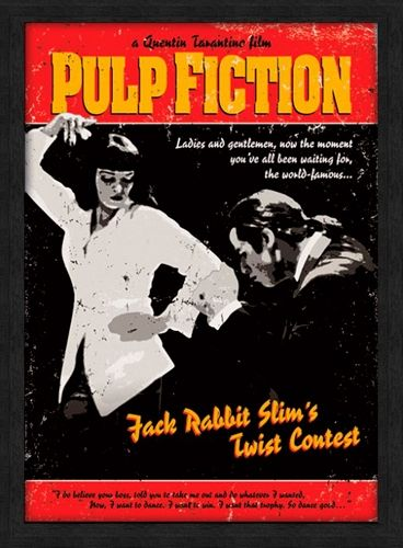 affiche sous cadre pulp fiction twist contest cadres rock a gogo. Black Bedroom Furniture Sets. Home Design Ideas