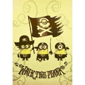 Plaque Murale MINIONS - Walk The Plank