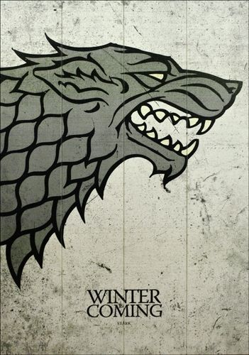 Plaque murale game of thrones winter is coming plaques for Decoration murale game of thrones