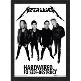Affiche Sous Cadre METALLICA - Hardwired Band