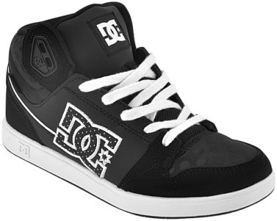 chaussures nana dc shoes university mid black dots chaussures rock a gogo. Black Bedroom Furniture Sets. Home Design Ideas
