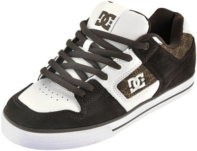 chaussures dc shoes pure slim xe brown white. Black Bedroom Furniture Sets. Home Design Ideas