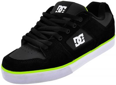 chaussures dc shoes pure slim lime shoes chaussures. Black Bedroom Furniture Sets. Home Design Ideas
