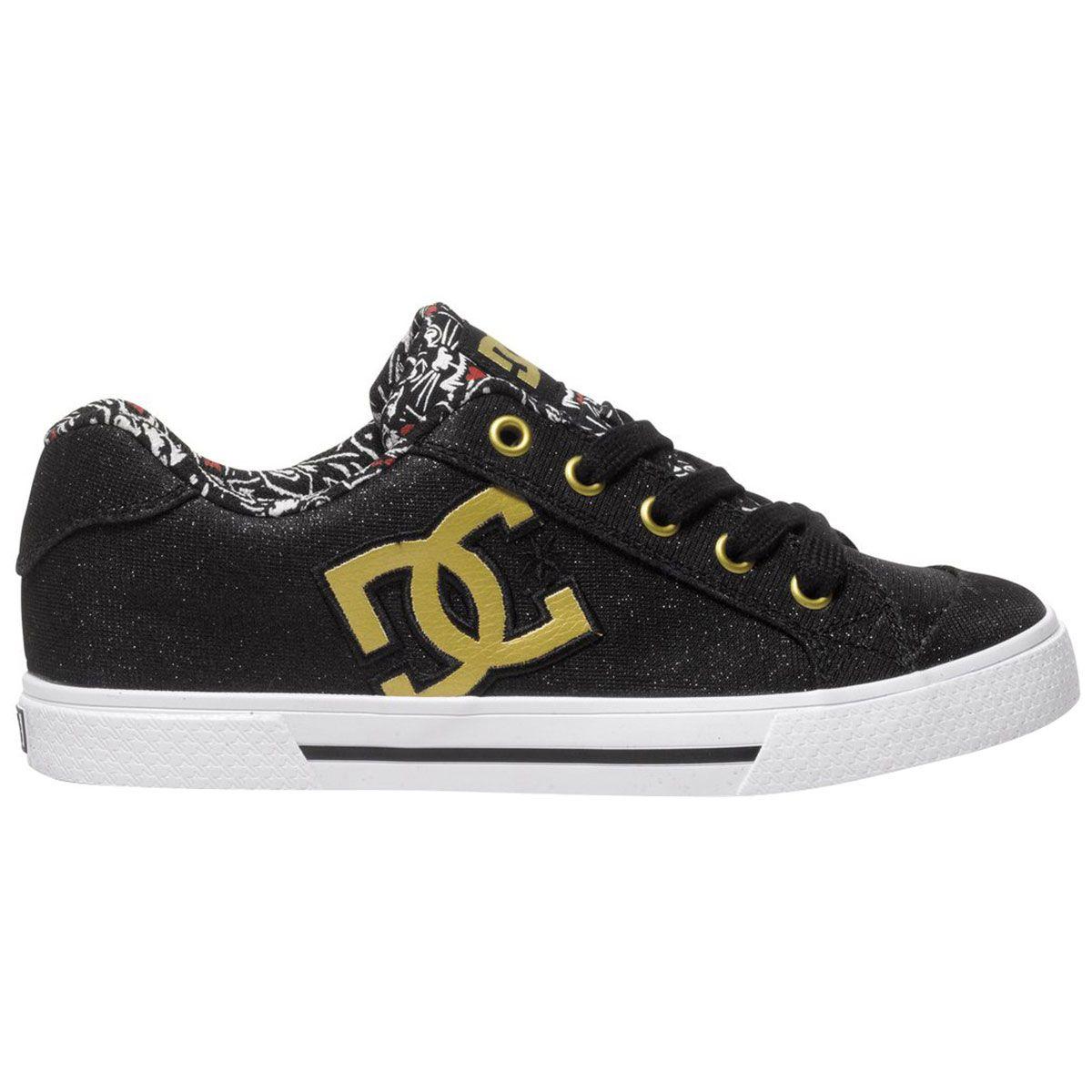 chaussures femme dc shoes chelsea x tr black print baskets rock a gogo. Black Bedroom Furniture Sets. Home Design Ideas