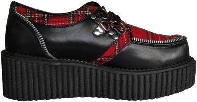 Gogo Rock Tartan Chaussures A DEMONIA Creepers xX07UYq