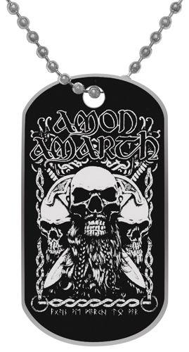 Image de Plaque Militaire AMON AMARTH - Skulls