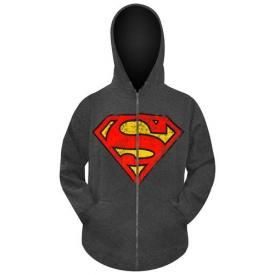 Sweat Zippé Mec SUPERMAN - Symbol Vintage