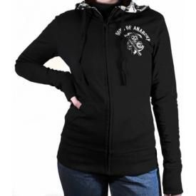 Sweat Capuche Zippé Femme SONS OF ANARCHY - Reversible Jacket