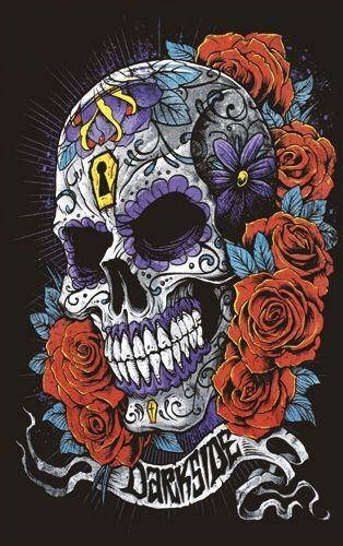 tee shirt femme darkside mexican skull rock a gogo. Black Bedroom Furniture Sets. Home Design Ideas