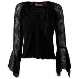Tee Shirt Manches Longues Femme DARKSIDE - Lace Arms