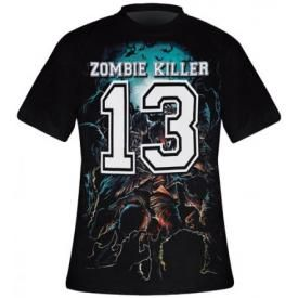 T-Shirt Mec DARKSIDE - Zombie Killer Blue