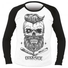 T-Shirt Manches Longues Homme DARKSIDE - Bearded Skull