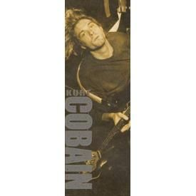 Door Poster NIRVANA - Kurt Cobain Brown