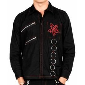 Chemise Mec DEAD THREADS - Red Pentagram