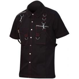 Chemise DEAD THREADS - Red and Laces
