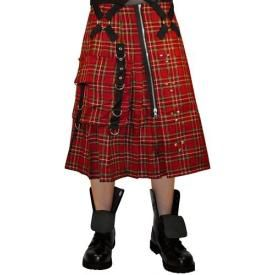 Kilt Mixte DEAD THREADS - Red Tartan