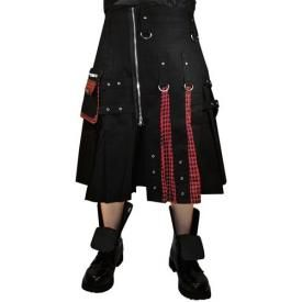 Kilt Mixte DEAD THREADS - Black Tartan