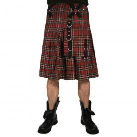 Kilt Mixte DEAD THREADS - Dark Red Tartan