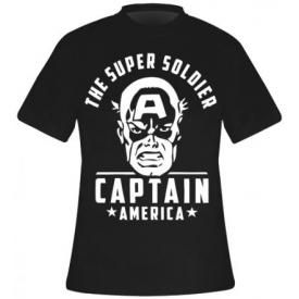 T-Shirt Mec CAPTAIN AMERICA - Super Soldier
