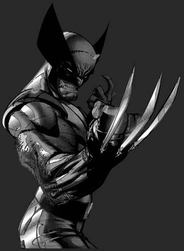 T shirt homme wolverine extreme metallic silver rock a - Wolverine dessin ...