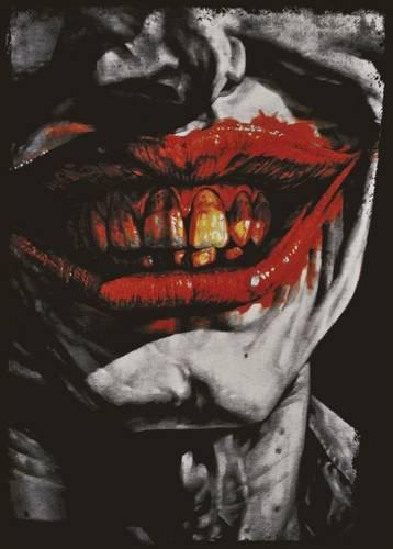 The First Joke - The Four Jokes of the aJokalypse T-shirt-batman-homme-comics-batman-joker-smile-z