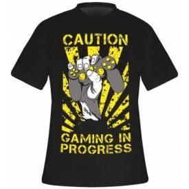 T-Shirt Mec DIVERS - Caution Gaming In Progress
