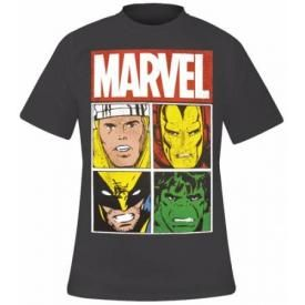 T-Shirt Mec MARVEL - Distressed Characters