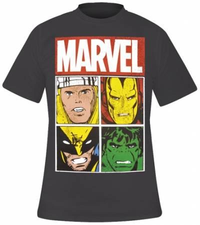 Image de T-Shirt Mec MARVEL - Distressed Characters