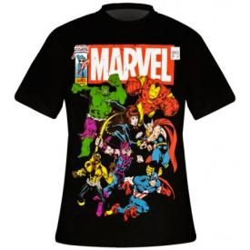 T-Shirt Mec MARVEL - Team Up