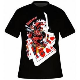 T-Shirt Mec DEADPOOL - Cards