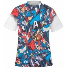 T-Shirt Mec CAPTAIN AMERICA - Retro Sublimation