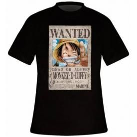 T-Shirt Mec ONE PIECE - Wanted Monkey D Luffy