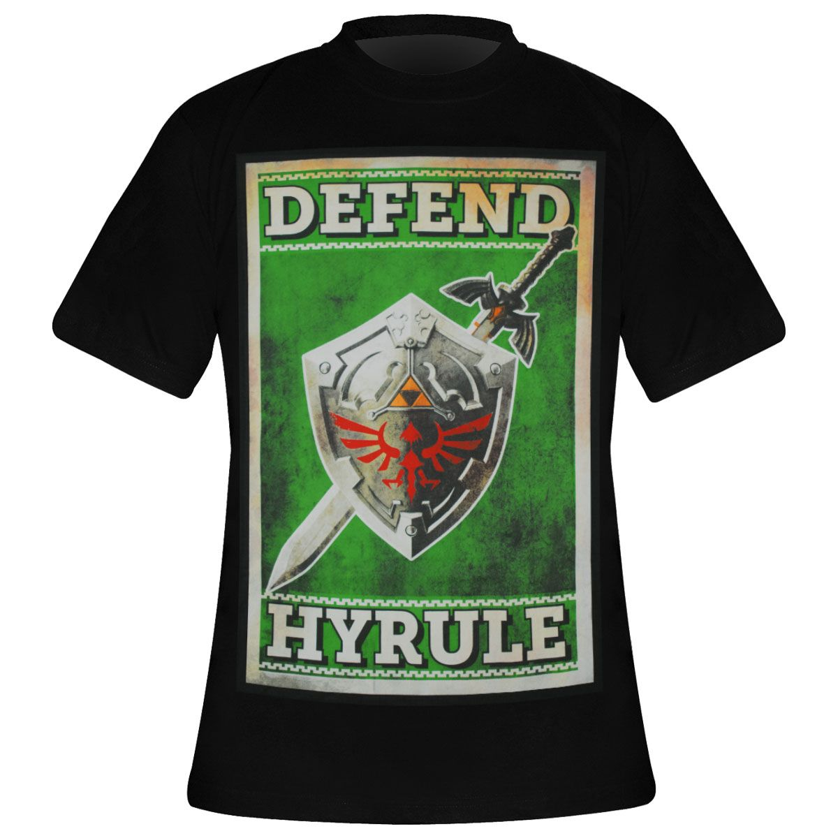 Regular//Coupe Standard The Legend of Zelda L/Ép/ée De L/égende Homme T-Shirt Manches Courtes Vert