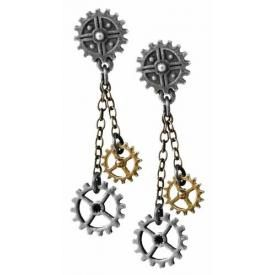 Boucles d'Oreilles ALCHEMY - Machine Head Steampunk