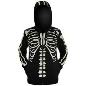 Sweat Zippé Femme BANNED - Skeleton In The Dark