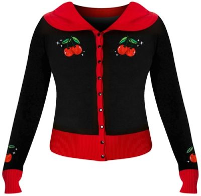 premium selection official official images Cardigan Femme BANNED - Cherries & Stars - Rock A Gogo