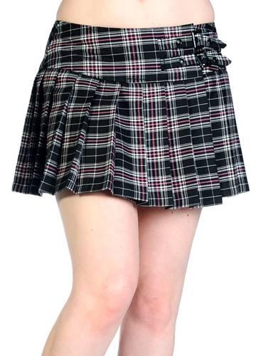 jupe banned mini pink tartan jupes rock a gogo. Black Bedroom Furniture Sets. Home Design Ideas