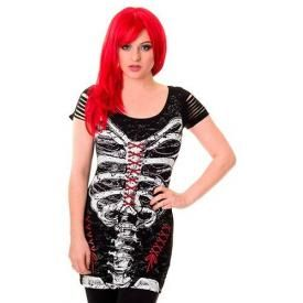 Tunique BANNED - Corset Skeleton